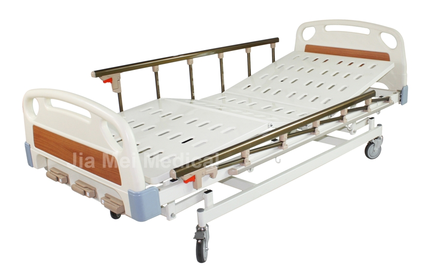hospital bed with cranks