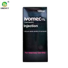 Inyección de ivermectina de medicamento veterinario de 50 ml