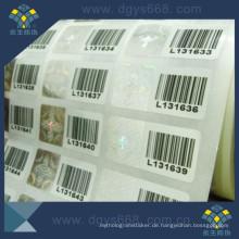 Sicherheits-Barcode-Hologramm-Aufkleber