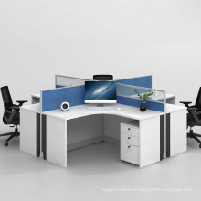 Hot Selling Office Modular 4 Person Workstation in Cross Design