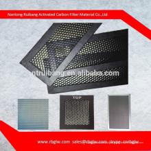 fornecer todos os tipos de hexágono regular tamanho pequeno poros de alumínio filtro de favo de mel com catalizador luz catalisador frio para filtro de ar