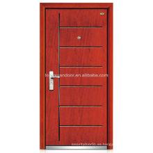 Puerta blindada de madera de acero