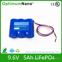 Deep Cycle 9.6V 5ah Lithium Battery for LED Light