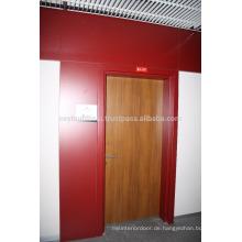 Teak Laminat beschichtete Tür mit Claret Rot Farbige Laminat beschichtete Rahmen und Jamb