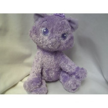 purple cat plush toy