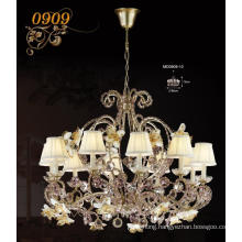 Luxury Brass with Crystal & Lampshade Decoration Pendant Lamp (MD0909-10)