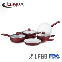 Hot sale nonstick forged pots and pans set with durable ceramic coating