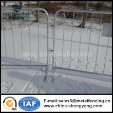 Galvanisierte vorübergehende Eisenzaunplatten Menschenmenge-Kontrollbarrikaden hergestellt in China