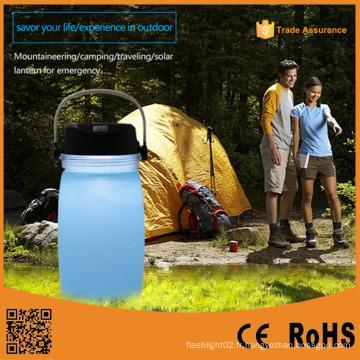 Lanterne de camping multifonction solaire portable de stationnement extérieure