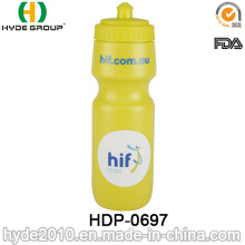 2017 Promotion BPA FREI Kunststoff Lauf Sportflasche, PE Kunststoff Sport Wasserflasche (HDP-0697)