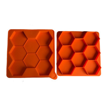 Silicone Hexagon Pastry Chocolate Cake Mold Baking Pan