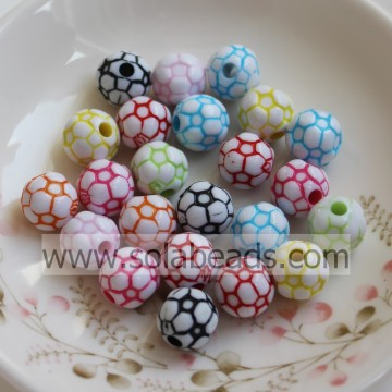 Christmas Tree 12mm Colored Round Ball Tiny beads