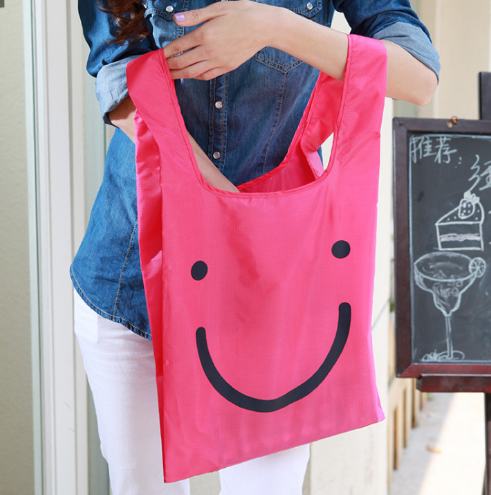 Smile Face Recycle Nylon Bag