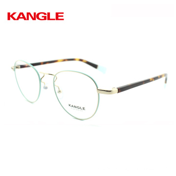 2018 new products metal glasses frame with bright color and beautiful tortoise