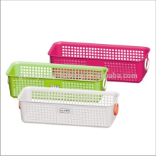 Qualified Customized colors square storage plastic basket with handle