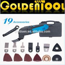 220w 19pcs Handheld Electric Vibrating Oscillating Cutting Saw Portable Multifunction Power Tools