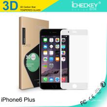 Protector de cristal moderado Asahi Asahi de la pantalla de la fibra de carbono 3D de 0.2mm para iPhone6 / 6plus