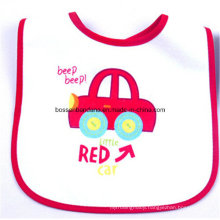 Custom Made Cartoon Printed Promotional Customized Cotton Terry Baby Wear Bib