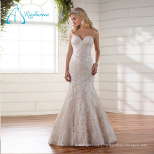 2017 Pearls Sequined Beading Button Mermaid Sexy Wedding Dress