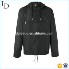 Polyester sport black hoodies half zip up hooded sweatshirt for men