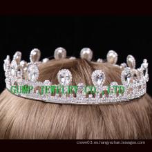 Corona caliente del rhinestone de la muchacha del cumpleaños de la tiara del metal de la venta