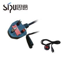 SIPU vende en caliente UK 2pin montado en el cable de alimentación del enchufe 2 pin en el cable de corriente alterna