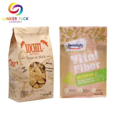 ECO Friendly Custom Kraft Doypack para alimentos secos