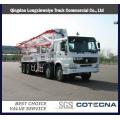 Camión de la bomba concreta montada camión HOWO 8X4 28-48m