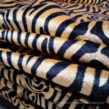 Tissu de canapé d'angle en velours imprimé tricoté en chaîne