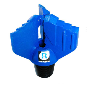 High quality water well drilling carbide insert 3 blades wings drag bit for oilfield