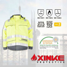 High Visible Modacrylic Flame Retardant and Anti-static security Jackets