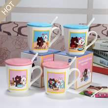 Cute Cartoon animaux tasse en céramique Set