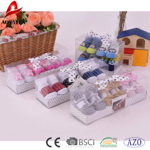 custom gift box new design cute cotton baby socks