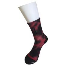 Medio cojín de algodón de moda logotipo de deporte corbata de tejer calcetines (jcmc11)