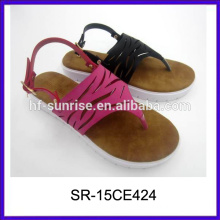 new model fashion laides fancy slippers pu ladies slippers design flat sandals for ladies pictures