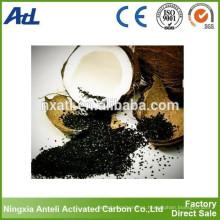 carbón activado de coco para la purificación del agua