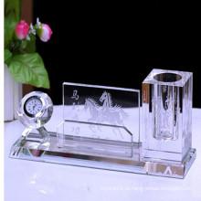 Популярный стеклянный кристаллический держатель ручки для офиса украшения