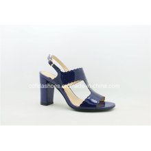 Sexy Chunky High Heels Lady Leather Sandals