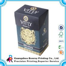 caja de papel de arte clásico de diseño de moda de alta calidad que empaqueta para el té
