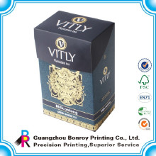 high quality fashionable design classical art paper box packaging for tea