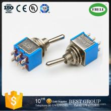 Interruptor de palanca en miniatura de encendido-encendido 6A 125VAC, interruptor de palanca, interruptor deslizante, interruptor de tacto