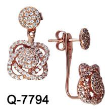 Pendiente micro de la plata esterlina de la manera 925 (Q-7794)