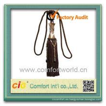 Borlas decorativas de moda nuevo diseño útil por mayor de poliéster cortinas para cortinas