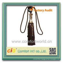 Fashion New Design Useful Wholesale Curtain Polyester decorative tassels for curtains