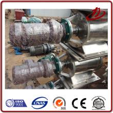 Discharge valve for unloading the boiler slag