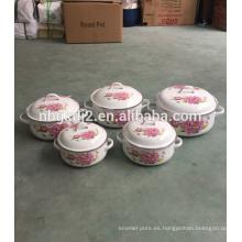 Olla caliente de esmalte de acero al carbono con mango de esmalte fuerte de alta calidad para vietnam