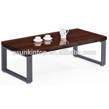 Trendy coffee table design for office red zebra and deep iron finishing, Fashional office furniture for sale (JO-4034-14)