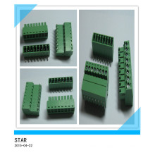 3.5mm Angle 8 Pin/Way Green Pluggable Type Screw Terminal Block Connector