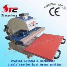 Certificat de la CE dessin chaleur pneumatique presse Machine 40 * 40cm automatique T-Shirt chaleur transfert Machine monoposte chaleur transfert Machine Stc-Qd08