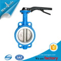 Wafer butterfly valve cast ductile iron butterfly valve with iron handle